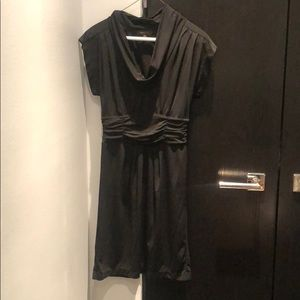 BCBG black rusched short sleeve dress XS